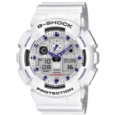 Reloj Casio G-Shock GA-100A-7AER blanco barato - relojdemarca