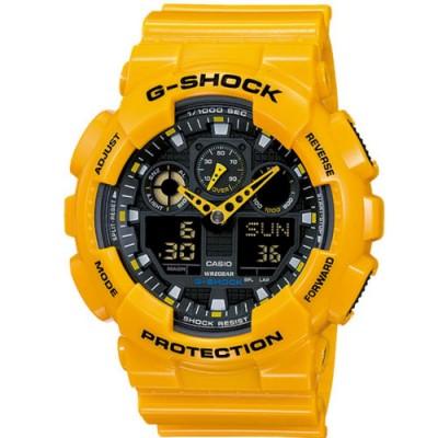 Reloj Casio G-Shock GA-100A-9AER amarillo - relojdemarca