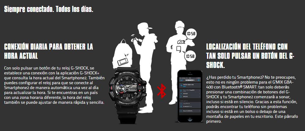 f4621eda03e1 Reloj Casio G-Shock GBA-400-7CER bluetooth barato
