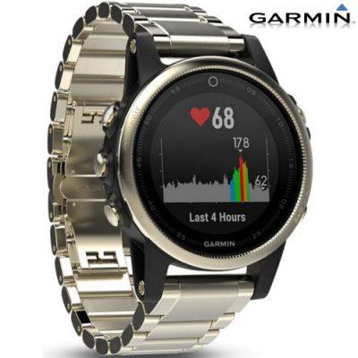 Reloj Garmin Fenix 5S Zafiro dorado con correa metálica